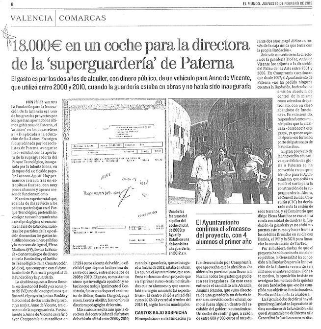 EL MUNDO (19 febrer 2015)