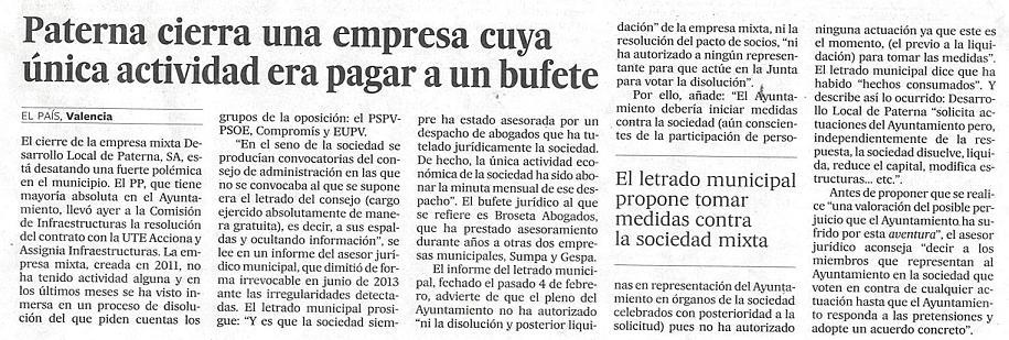 EL PAÍS (10 març 2015)